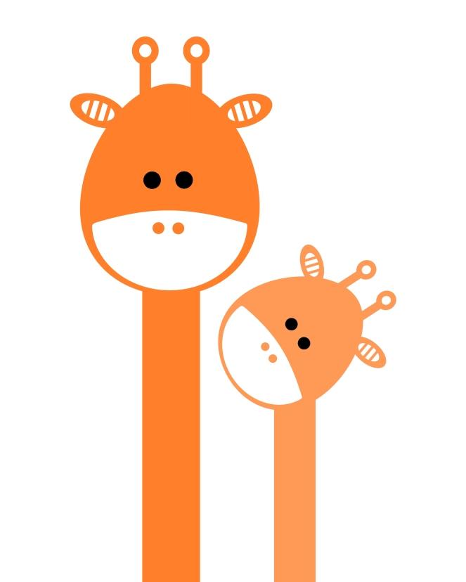 Print_OrangeGiraffes_8x10 (2)