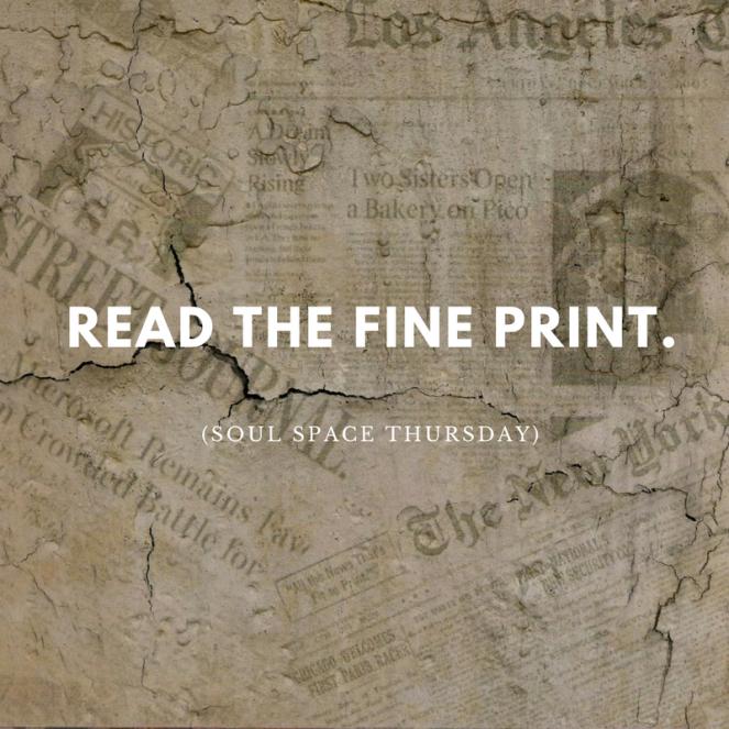 read the fine print soul space thursday courtneybellis.com